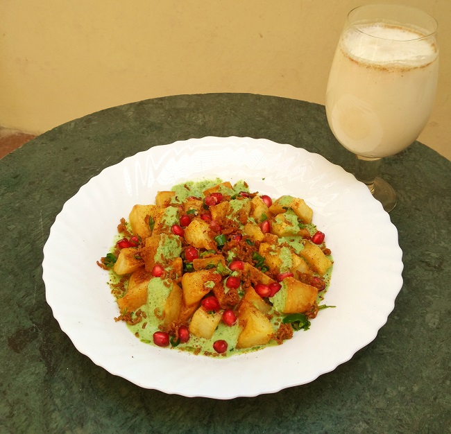 Navratri Aloo Chaat and Chaas