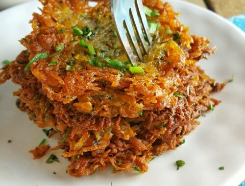 Navratri Potato Pancakes | Easy Vegan Latkes