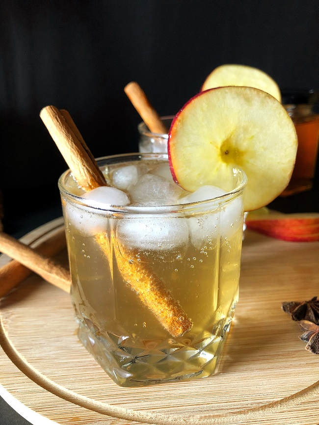 Sparkling Apple Mocktail | Non-Alcoholic Cocktail Recipe