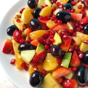 Fruit Salad Recipe with Easy Dressing | Vrat or Fasting Recipe