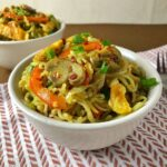 Indian-Style Maggi Recipe with Egg and Mushroom