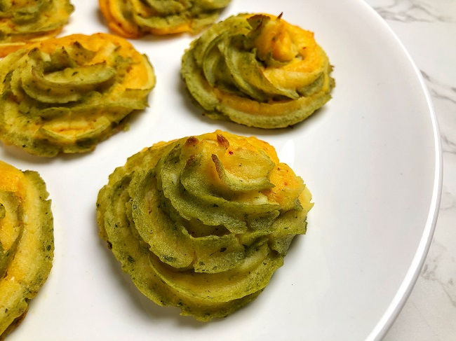 Tri-Coloured Mashed Potato Swirls for Independence Day