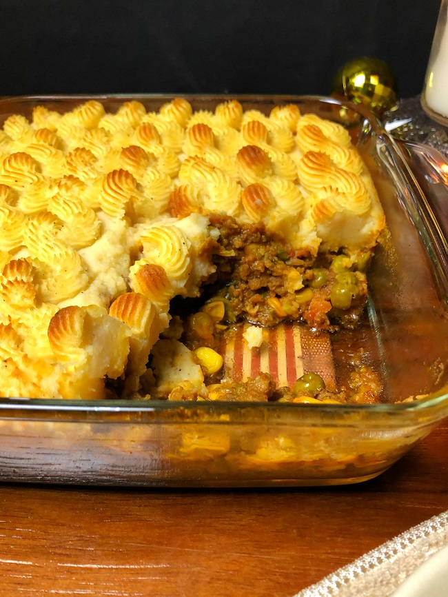 Quick and Easy Shepherd's Pie recipe made Without Worcestershire sauce