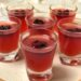 Cranberry Whiskey Jello Shots (Vegan)