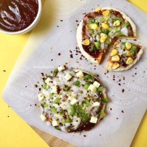 2-Minute Microwave Pizza Without Yeast Easy BBQ Veg Pizza Recipe