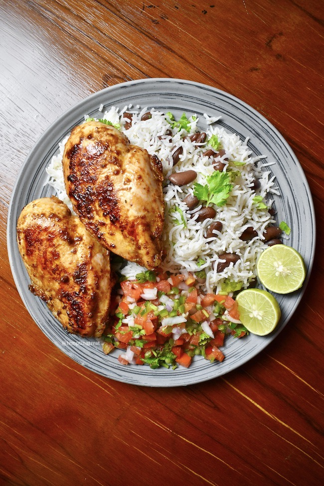 Easy Jamaican Jerk Chicken With Coconut Rice And Beans